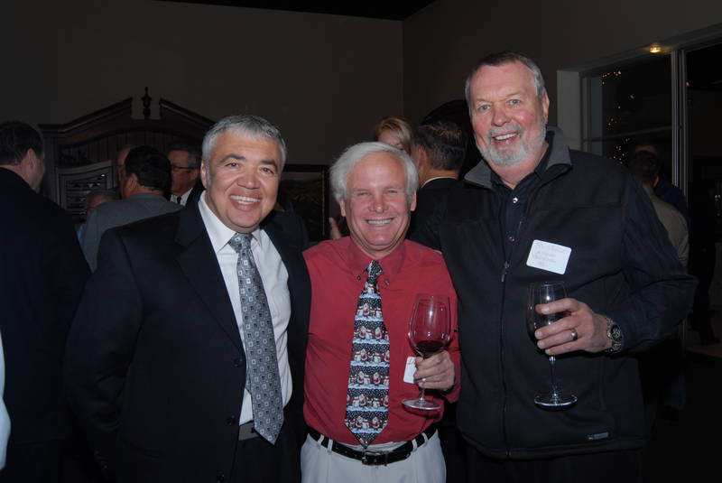 With friends, architect Nick Tsontakis, AIA, left, and builder, Ron Steege, formerly of La Casa Builders, at an Arizona Residential Architects networking event in Scottsdale.