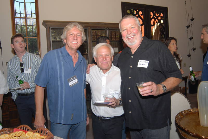 With Jon Bernhard, a partner at Swaback Partners in Scottsdale, and Ron Steege, formerly a principal at La Casa Builders, also Scottsdale, at a recent ARA networking event. Bookended again!