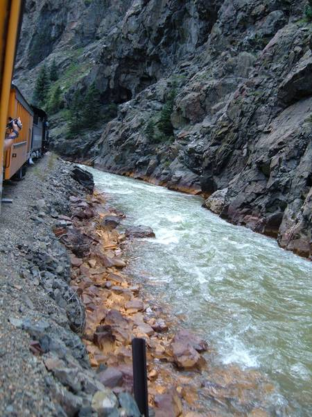 When you're in the Durango area, get onboard the Silverton-Durango Railway for a trip along the Animas River and the sublime lower Rockies. An exciting place to hang out for a few hours, but don't hang out too far.