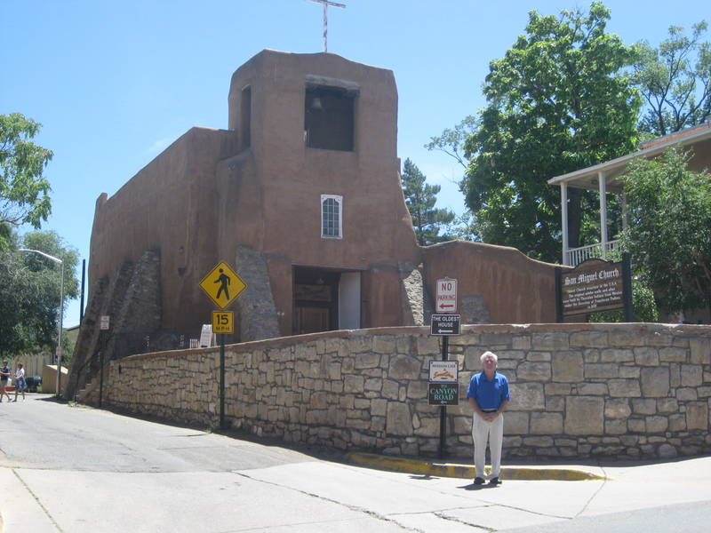 San Miguel Church in Old Santa Fe. I told the officer I was not parking.
