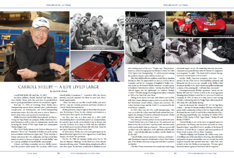 Carroll Shelby - A Life Lived Large