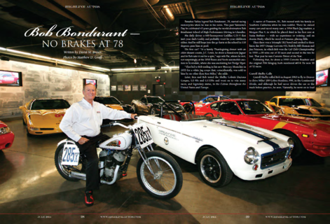 Bob Bondurant: No Brakes at 78
