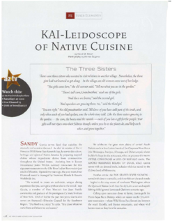 KAI-Leidoscope of Native Cuisine