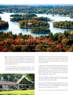 Belle Island in the Thousand Islands
