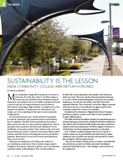 Sustainability is the Lesson: The Arboretum at MCC