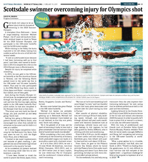 Scottsdale's Giles Smith Trains for An Olympics Shot